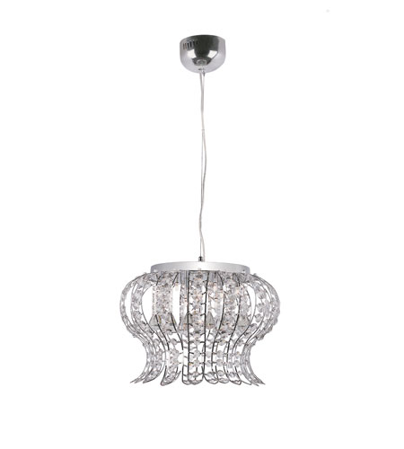 Trans Globe Lighting Modern Glass Creations 10 Light Chandelier in Polished Chrome MDN-923 photo