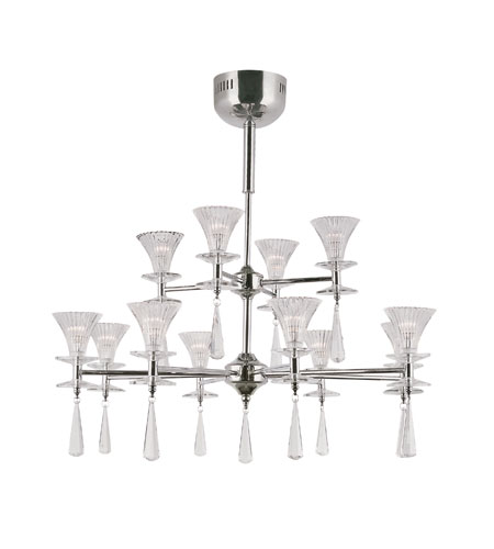 Trans Globe Lighting Modern Meets Traditional 12 Light Chandelier in Polished Chrome MDN-928 photo