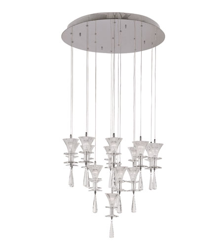 Trans Globe Lighting Modern Meets Traditional 16 Light Chandelier in Polished Chrome MDN-930 photo
