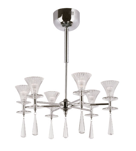 Trans Globe Lighting Modern Meets Traditional 6 Light Chandelier in Polished Chrome MDN-931 photo
