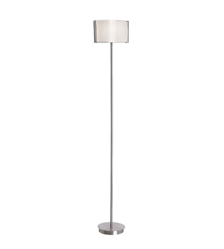 Trans Globe Lighting Modern Meets Traditional 1 Light Floor Lamp in Brushed Nickel MDN-942 photo