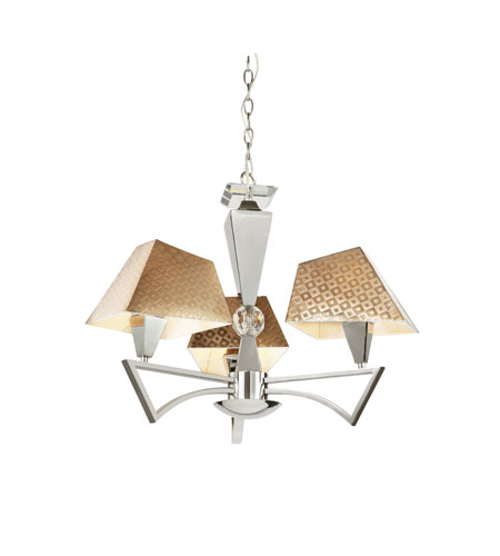 Trans Globe Lighting Young And Hip 3 Light Chandelier in Polished Chrome MDN-948 photo