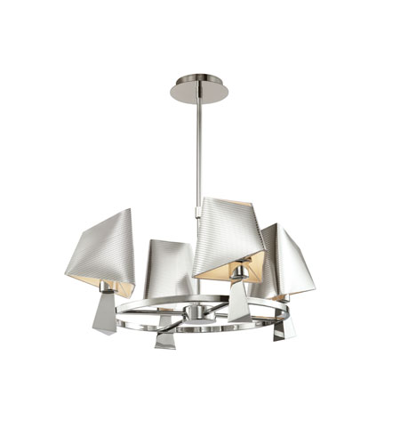 Trans Globe Lighting Young And Hip 4 Light Chandelier in Polished Chrome MDN-950 photo