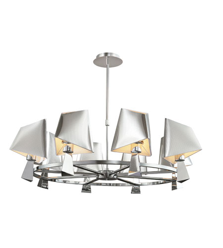 Trans Globe Lighting Young And Hip 8 Light Chandelier in Polished Chrome MDN-952 photo