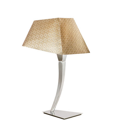 Trans Globe Lighting Young And Hip 1 Light Table Lamp in Polished Chrome MDN-954 photo