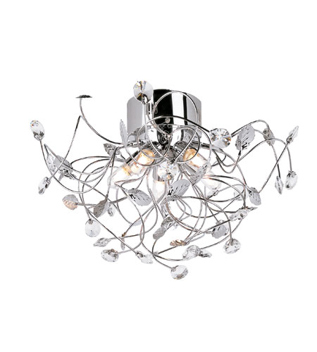 Trans Globe Lighting Modern Collection 5 Light Flush Mount in Polished Chrome MDN-961 photo