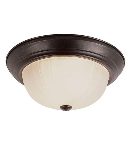 Trans Globe Lighting Energy Efficient 2 Light Flush Mount in Rubbed Oil Bronze PL-13213-1-ROB photo