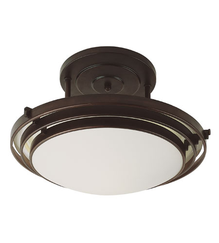 Trans Globe Lighting Energy Efficient 2 Light Semi-Flush Mount in Rubbed Oil Bronze PL-2480-ROB photo