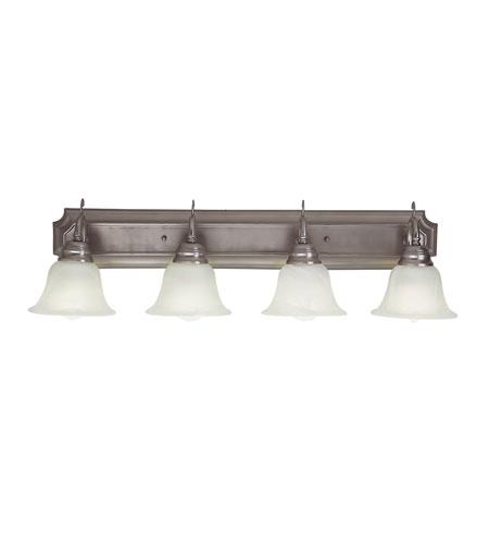 Trans Globe Lighting Energy Efficient 4 Light Bath Bar in Brushed Nickel PL-2624-BN photo