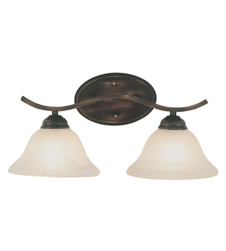 Trans Globe Lighting Energy Efficient Indoor 2 Light Bath Bar in Rubbed Oil Bronze PL-2826-ROB photo