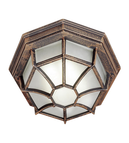 Trans Globe Lighting PL-40582-RT Wagon Wheel 1 Light 11 inch Rust Flush Mount Ceiling Light photo