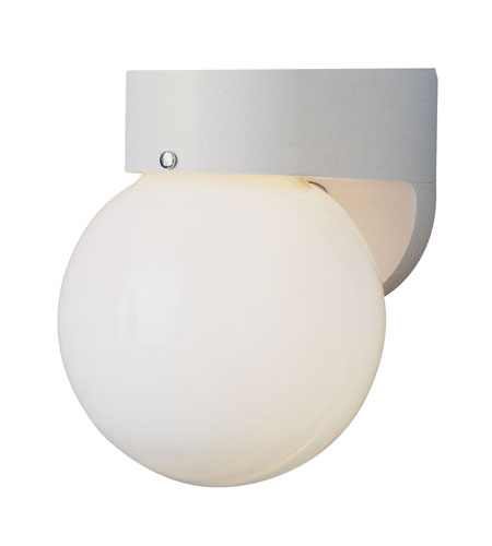 Trans Globe Lighting Energy Efficient Outdoor 1 Light Outdoor Wall Sconce in White PL-4750-WH photo