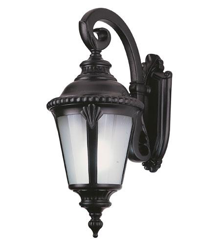 Trans Globe Lighting Estate 1 Light Outdoor Wall Lantern in Black 5043-BK photo