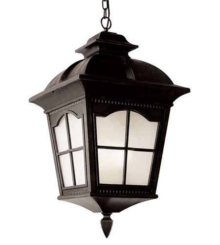 Trans Globe Lighting Energy Efficient 1 Light Outdoor Hanging Lantern in Antique Rust PL-5426-BK photo