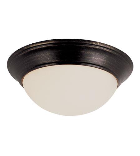Trans Globe Lighting Energy Efficient 2 Light Flush Mount in Rubbed Oil Bronze PL-57701-ROB photo