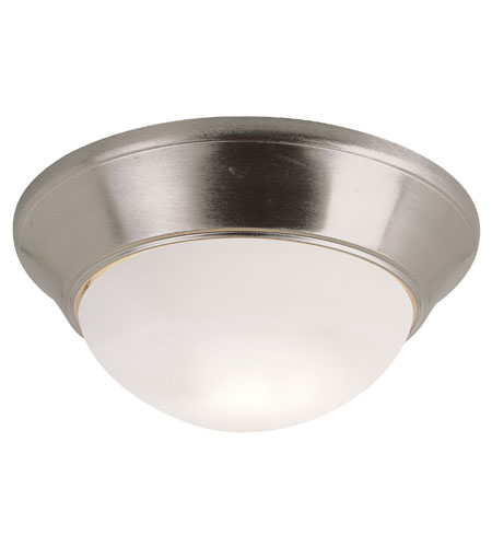 Trans Globe Lighting Energy Efficient Indoor 2 Light Flushmount in Brushed Nickel PL-57704-BN photo