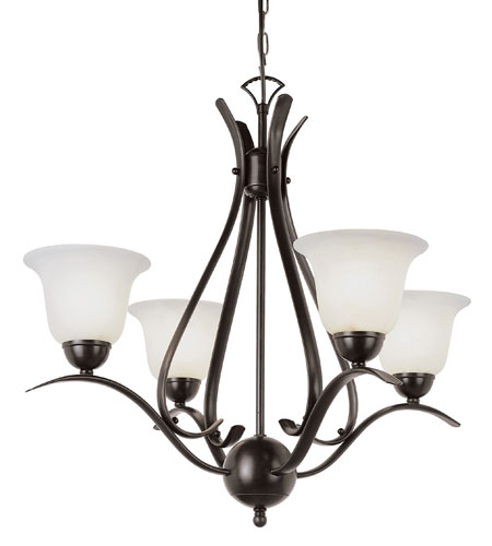 Trans Globe Lighting Energy Efficient Indoor 4 Light Chandelier in Rubbed Oil Bronze PL-9280-ROB photo