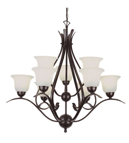 Trans Globe Lighting Energy Efficient Indoor 9 Light Chandelier in Rubbed Oil Bronze PL-9289-ROB photo