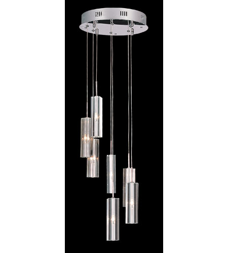 Trans Globe Lighting Modern 7 Light Pendant in Polished Chrome PND-186 photo