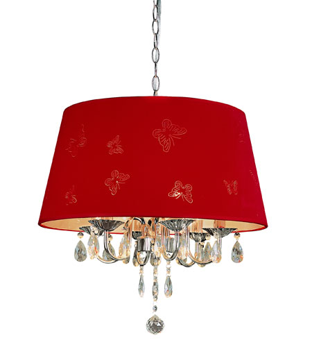 Trans Globe Lighting Modern Meets Traditional 3 Light Pendant in Red PND-610-RED photo