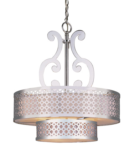 Trans Globe Lighting Contemporary 5 Light Chandelier in Polished Chrome PND-614-PC photo