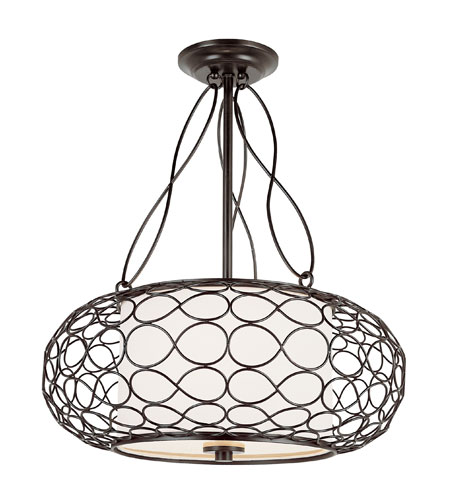 Trans Globe Lighting Signature 2 Light Pendant in Brown PND-820 photo