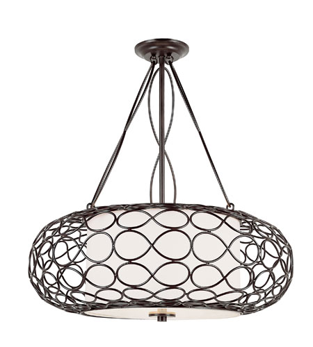 Trans Globe Lighting Signature 3 Light Pendant in Brown PND-821 photo