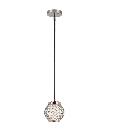 Trans Globe Lighting Signature 1 Light Pendant in Polished Chrome PND-830 photo