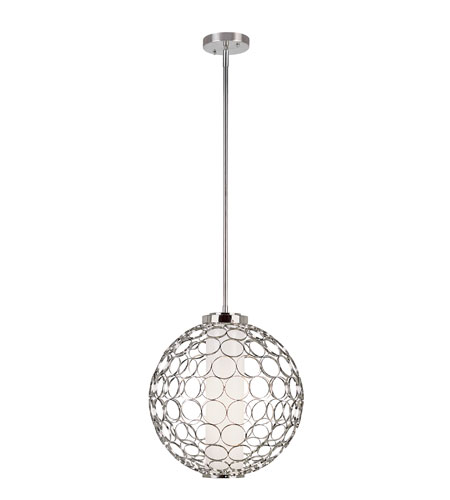 Trans Globe Lighting Signature 1 Light Pendant in Polished Chrome PND-833 photo