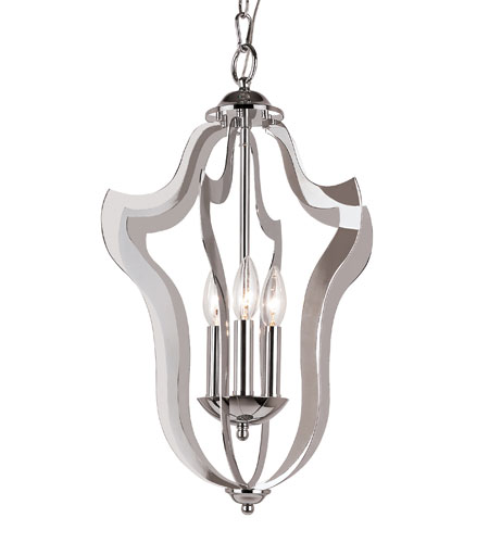 Trans Globe Lighting Signature 3 Light Pendant in Polished Chrome PND-840 photo