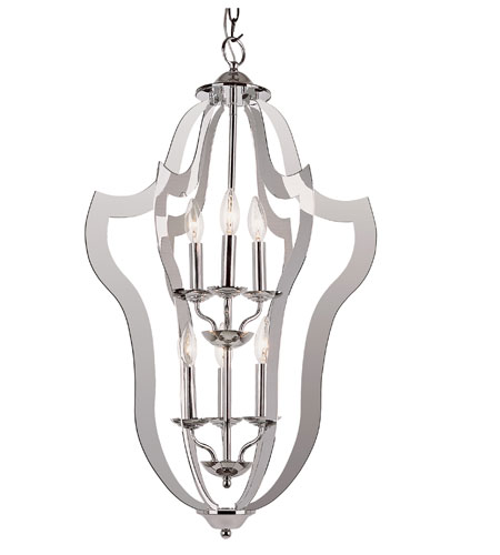 Trans Globe Lighting Signature 4 Light Pendant in Polished Chrome PND-841 photo