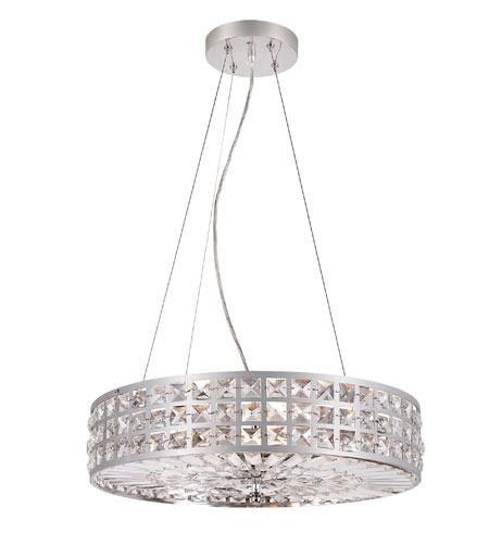 Trans Globe Lighting Contemporary Crystal 6 Light Pendant in Polished Chrome PND-918 photo