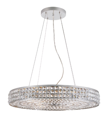Trans Globe Lighting Contemporary Crystal 14 Light Pendant in Polished Chrome PND-919 photo