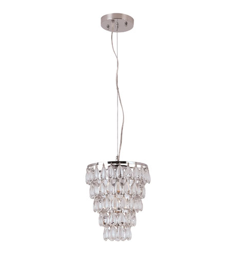Trans Globe Lighting Contemporary Crystal 1 Light Pendant in Polished Chrome PND-921 photo