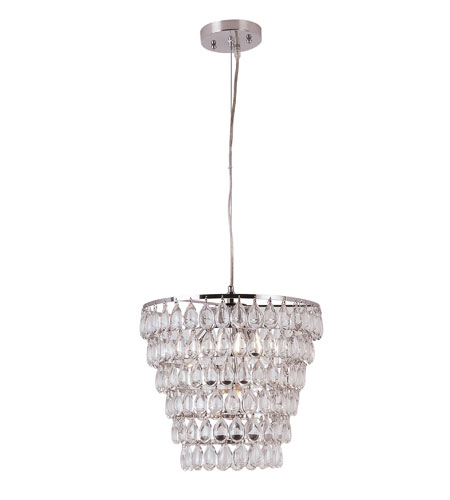 Trans Globe Lighting Contemporary Crystal 4 Light Pendant in Polished Chrome PND-922 photo