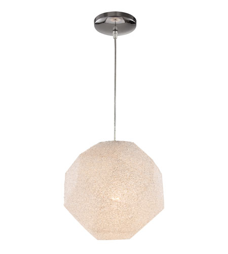 Trans Globe Lighting PND-949 Urban Crush 1 Light 12 inch Polished Chrome Pendant Ceiling Light photo