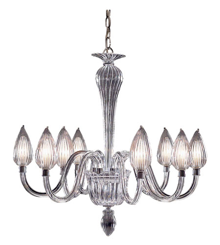 Trans Globe Lighting Versailles 8 Light Chandelier in Chrome RODAS-8-SL photo
