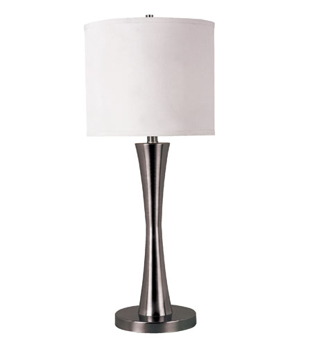 Trans Globe Swooped 1 Light Table Lamp in Antique Nickel RTL-8147-AN photo