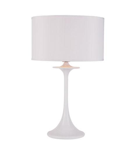 Trans Globe Lighting Contemporary 1 Light Table Lamp in White RTL-8276 photo