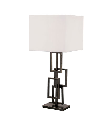 Trans Globe Lighting Traditional 1 Light Table Lamp in Rubbed Oil Bronze RTL-8404 photo