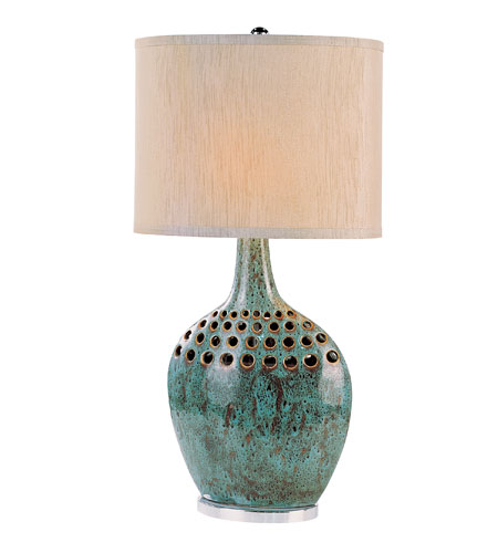 Trans Globe Lighting Contemporary 1 Light Table Lamp in Green RTL-8631 photo