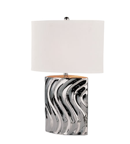 Trans Globe Lighting Contemporary 1 Light Table Lamp in Silver RTL-8638 photo