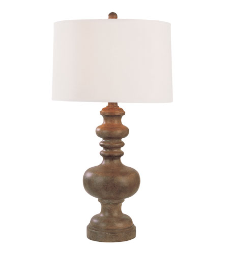 Trans Globe Lighting Traditional 1 Light Table Lamp in Wood RTL-8648 photo