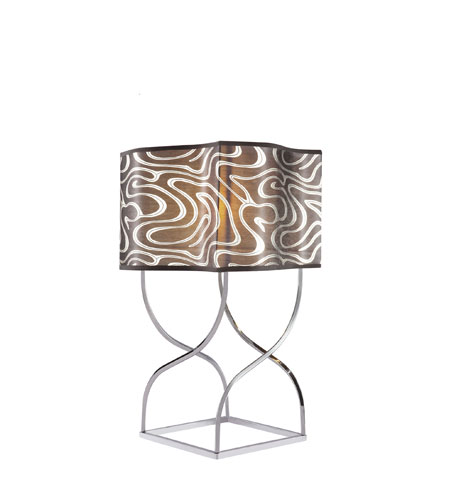 Trans Globe Lighting Contemporary 1 Light Table Lamp in Polished Chrome RTL-8655-PC photo