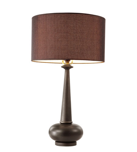 Trans Globe Lighting Contemporary 1 Light Table Lamp in Rubbed Oil Bronze RTL-8677 photo