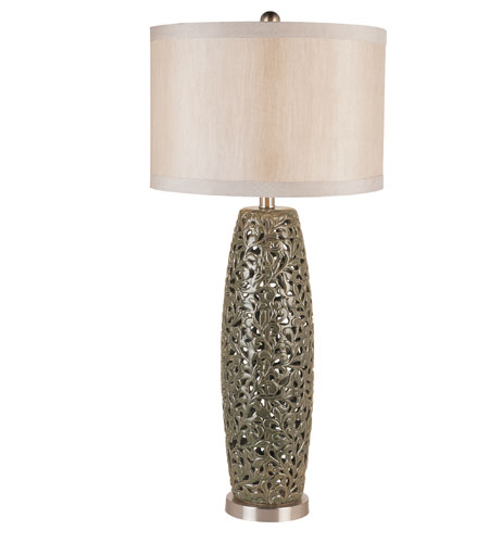 Trans Globe Lighting Traditional 1 Light Table Lamp in Antique Silver RTL-8712 photo