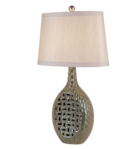 Trans Globe Lighting Traditional 1 Light Table Lamp in Antique Silver RTL-8716 photo
