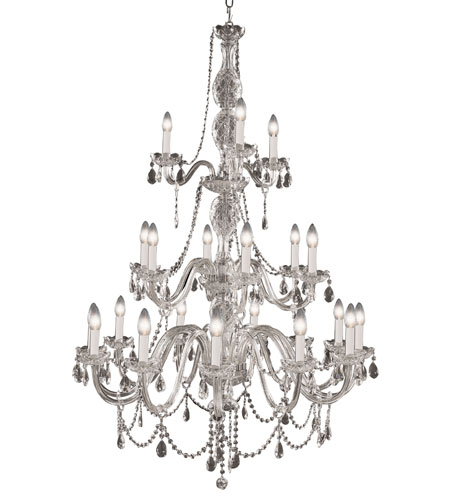 Trans Globe Lighting Versailles 21 Light Chandelier in Silver VIC-21-SL photo