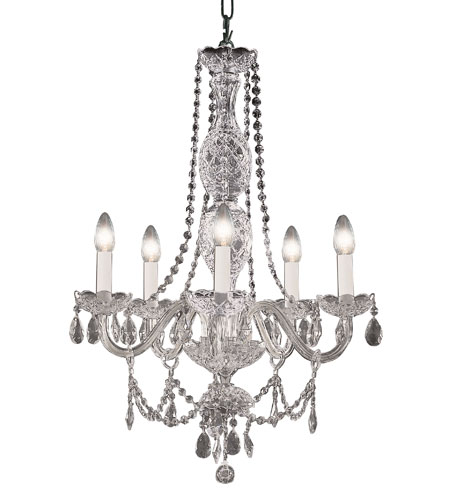 Trans Globe Lighting Versailles 5 Light Chandelier in Silver VIC-5-SL photo