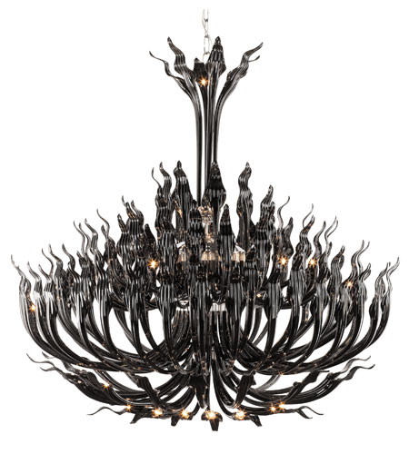 Trans Globe Lighting Versailles 119 Light Chandelier in Black ARABELLA-119-BK photo